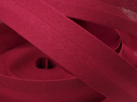 5 m Schrägband uni himbeerrot 20mm 100% Baumwolle