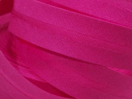 5 m Schrägband uni pink 20mm 100% Baumwolle