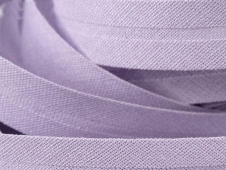 5 m Schrägband uni flieder 20mm 100% Baumwolle
