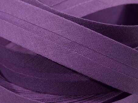 5 m Schrägband uni amethyst 20mm 100% Baumwolle