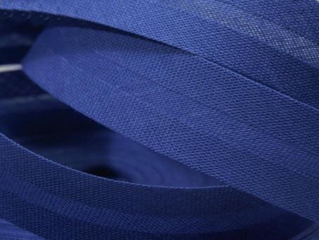 5 m Schrägband uni royalblau 20mm 100% Baumwolle