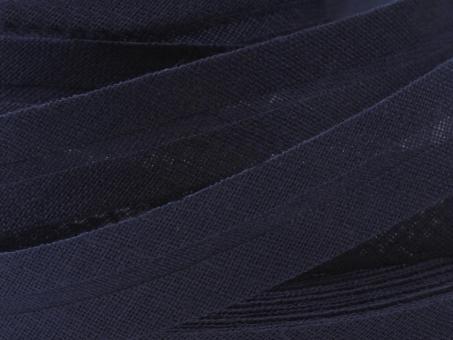 5 m Schrägband uni dunkelblau 20mm 100% Baumwolle