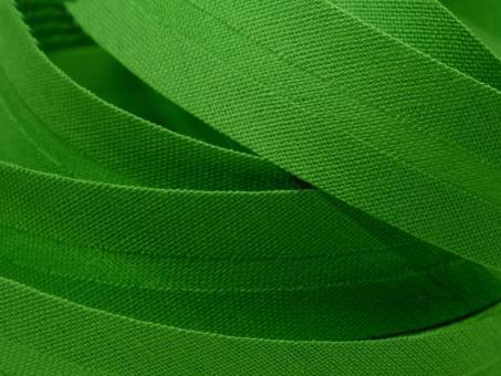 5 m Schrägband uni grasgrün 20mm 100% Baumwolle