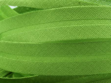 5 m Schrägband uni maigrün 20mm 100% Baumwolle