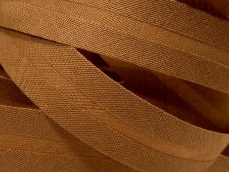 5 m Schrägband uni ocker 20mm 100% Baumwolle
