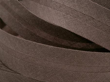5 m Schrägband uni braun 20mm 100% Baumwolle