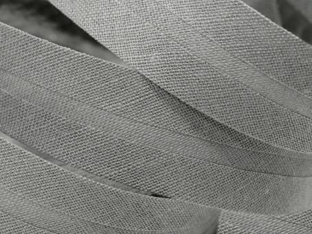 5 m Schrägband uni grau 20mm 100% Baumwolle