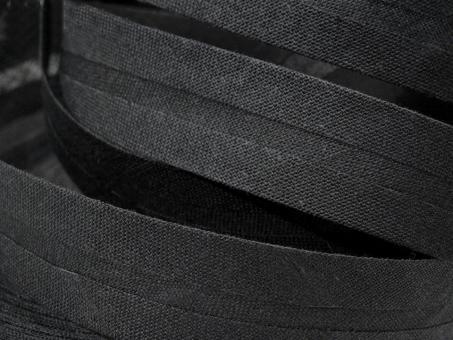 5 m Schrägband uni schwarz 20mm 100% Baumwolle