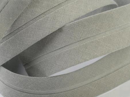 5 m Schrägband uni hellgrau 20mm 100% Baumwolle