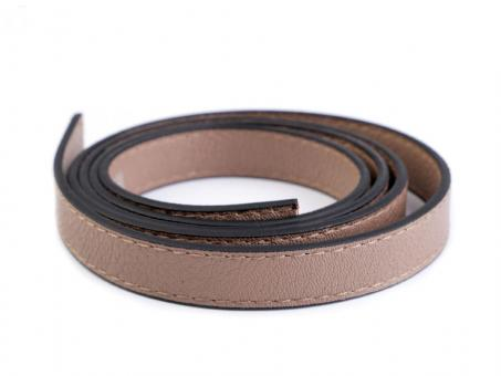 2 Stück Taschengriffe beige 120cm aus Eko-Leder Kanten gesteppt