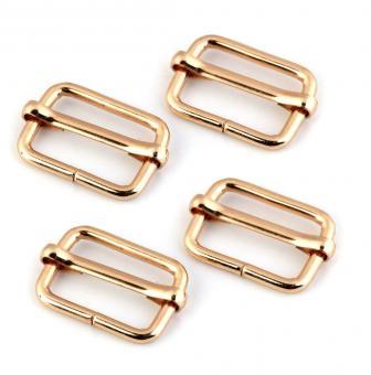 4 Stück Schiebeschnalle 20mm Gold glänzend