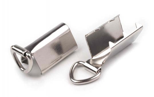 Bandklemme - Key-Fob 20mm Silber als Schlüsselbandrohling