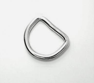 D-Ring Edelstahl Innen-Weite 20mm Drahtstärke 3mm verschweißt