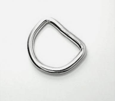 D-Ring Edelstahl 25mm Innen-Weite 4mm Drahtstärke verschweißt
