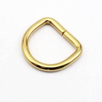 D-Ring Gold glänzend 30mm / 3cm Drahtstärke 5mm