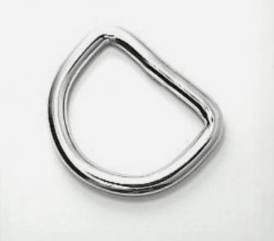 D-Ring Edelstahl, 40mm innen, Drahtstärke 4mm, verschweißt