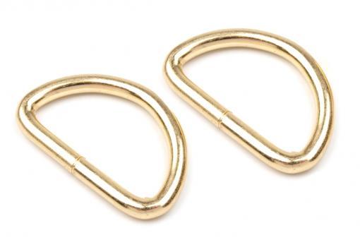 4x D-Ring Gold glänzend, 30mm flach