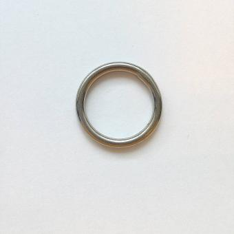 Edelstahl Rundring Silber glänzend 20mm verschweißt
