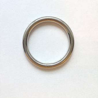 Edelstahl Rundring Silber glänzend 30mm verschweißt