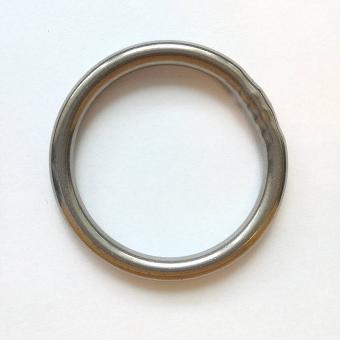 Edelstahl Rundring Silber glänzend 40mm verschweißt