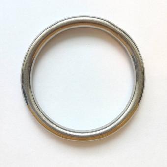 Edelstahl Rundring Silber glänzend 45mm verschweißt