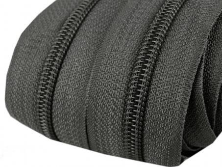 5m Endlos-Reißverschluss dunkelgrau 5mm incl. 10 Zipper