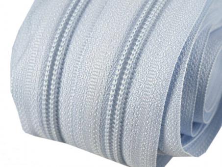 5m Endlos-Reißverschluss hell blau 5mm incl. 10 Zipper