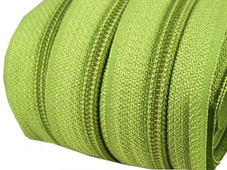 5m Endlos-Reißverschluss hell grün 5mm incl. 10 Zipper