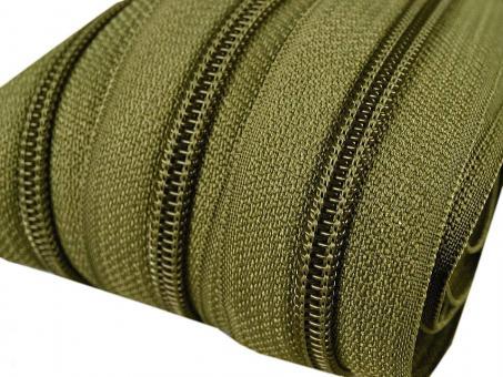 5m Endlos-Reißverschluss olive-grün 5mm incl. 10 Zipper