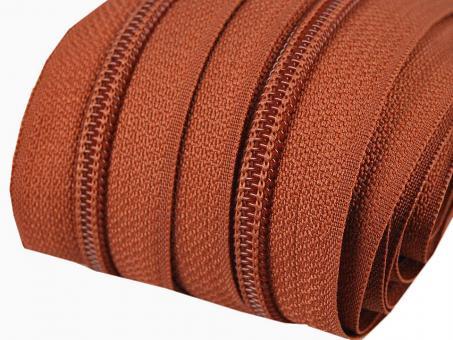 5m Endlos-Reißverschluss zimtbraun5mm incl. 10 Zipper