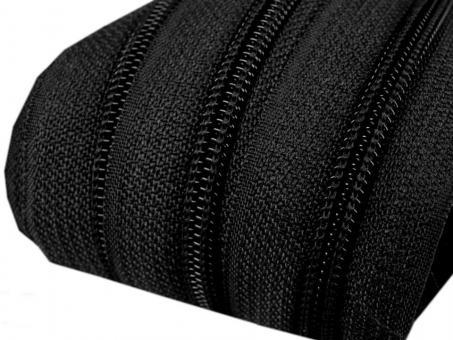 5m Endlos-Reißverschluss schwarz, 5mm incl. 10 Zipper