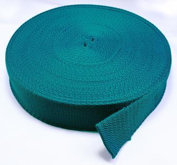 25 Meter Rolle Gurtband 3 cm / 30mm breit petrol