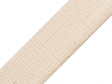 4 Meter Gurtband 4cm / 40mm breit Baumwolle creme / natur