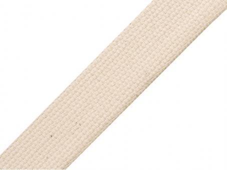 4 Meter Gurtband 2 cm / 20 mm Baumwolle Farbe Natur