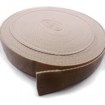 25 Meter Rolle Gurtband 3 cm/ 30 mm breit beige