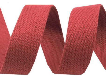 4 Meter rotes Gurtband Baumwolle 3 cm / 30mm breit
