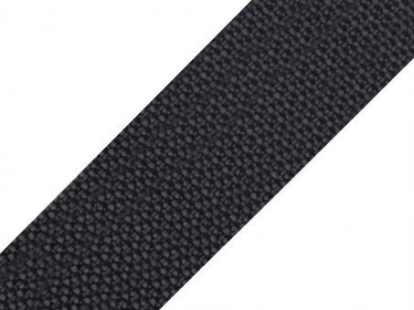 4 Meter Gurtband dunkelgrau 5cm / 50mm breit aus Polypropylen