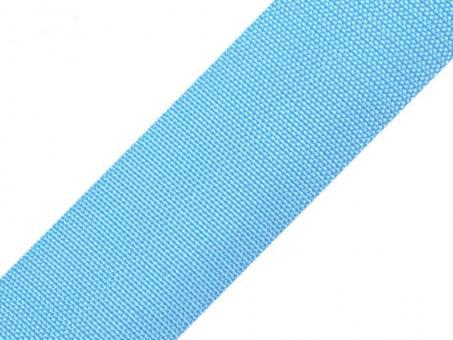 4 Meter Gurtband hellblau 5cm / 50mm breit aus Polypropylen