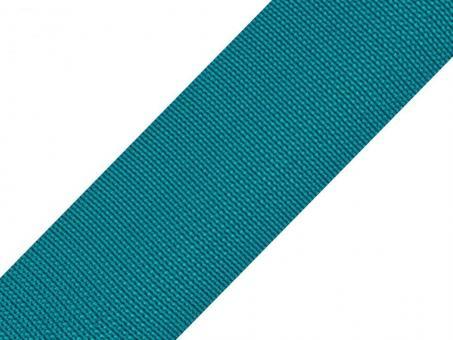 4 Meter Gurtband petrol 5cm / 50mm breit aus Polypropylen