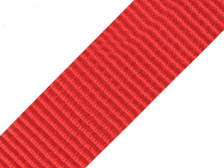 4 Meter Gurtband rot 5cm / 50mm breit aus Polypropylen