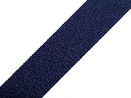 4 Meter Gurtband Baumwolle dunkelblau 3 cm / 30mm breit