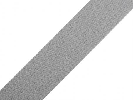 4 Meter Gurtband Baumwolle grau 3 cm / 30 mm breit