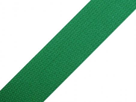 4 Meter Gurtband Baumwolle grün 3 cm / 30 mm breit
