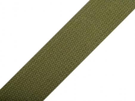 4 Meter Gurtband Baumwolle Khaki 3 cm / 30mm breit