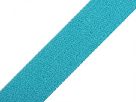 4 Meter Gurtband Baumwolle türkis 3 cm / 30 mm breit
