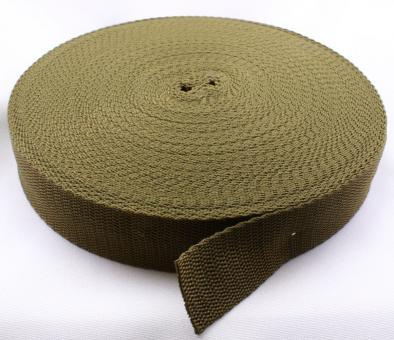 25 Meter Rolle Gurtband 3 cm / 30mm breit Khaki