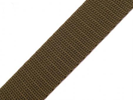4 Meter Gurtband 2 cm / 20 mm breit olive-grün
