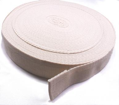 25 Meter Rolle Gurtband 3 cm/ 30mm breit hell-beige