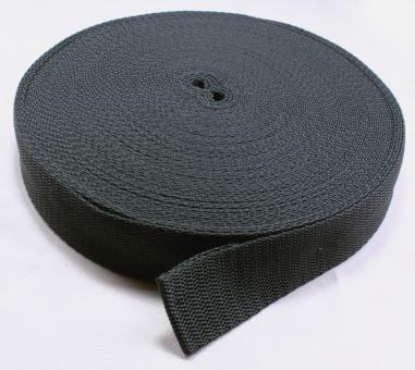 25 Meter Rolle Gurtband 3 cm / 30mm breit dunkel-grau