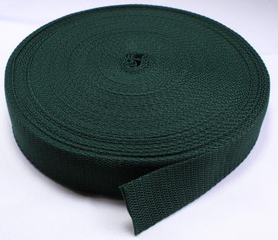 25 Meter Rolle Gurtband 3 cm / 30mm breit dunkel-grün